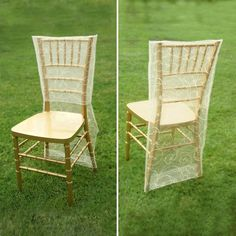 Ivory Organza Chiavari Chair Covers | Chair Slipcovers with Satin Embroidery Chair Bows, Chair Sashes, Folding Chair Covers, Table Covers, Chiavari Chairs, Dining Chairs, Wooden Chairs, Party Chairs, Swirl Design