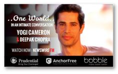 Ayurvedic #Yogi, Tehran born #YogiCameron dedicates life to his students, as well as those more in need.. from refugees in #Afghanistan to sex trafficking victims. Watch his #ONEWORLD conversation with #DeepakChopra now on #NEWSWIREFM: newswire.fm/one_world/video.php?guest_id=291