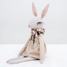 Lena Bekh creatures. Bunny eyelashes. #handmade #doll
