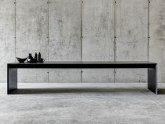 Rechteckiger Tisch aus MDF OMBRÌ 01 by FIORONI Design Studio Guscetti