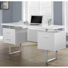 """Lowest price online on all Monarch 60"""" Hollow-core Office Desk in White - I 7081"""