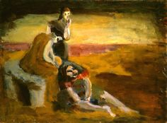 Untitled (three girls in a landscape) 1933/1934 oil on canvas overall: 61 x 81.3 cm (24 x 32 in.) Gift of The Mark Rothko Foundation, Inc. 1986.43.41 Not on View Copyright © 1998 Kate Rothko Prizel and Christopher Rothko Source : https://www.nga.gov/Collection/art-object-page.67398.html