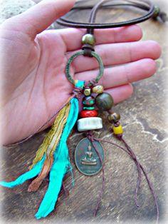 Buddha Necklace Buddha Jewelry Yoga Buddha by HandcraftedYoga