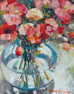 """""""Poppies,"""" by Erin Gregory, 16"""" by 20"""" on gallery wrap, $750    Gregg Irby Fine Art Gallery"""