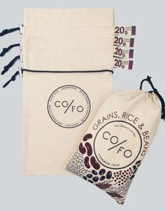 Set of 4, Grains, Rice and Bean bags