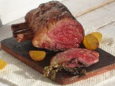 Dollhouse Miniature Prime Rib, Dollhouse Meat, Miniature Food in 1:12 scale by miniThaiss on Etsy #dollhouseminiatures #ribs #primerib #food #fakefood #dinner #christmasdinner #christmas #cook #fimo #potatoes