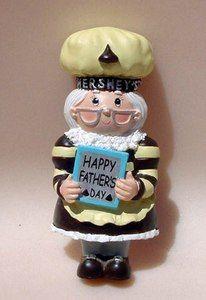 HERSHEY Kurt Adler Fathers Day MAGNET Elf Baker Chef Cook Lady Figurine Figural