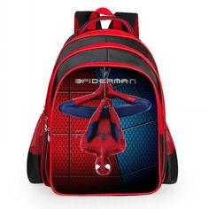 New Arrivals 2016 Boys School Bags Cartoon 3D Spiderman Children School  Backpacks Kindergarten Primary Boy mochila Kids Satchel e03be0bdd35ed