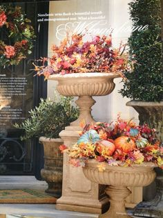 FOCAL POINT STYLING: DECORATING WITH URNS FOR AUTUMN & THANKSGIVING.../