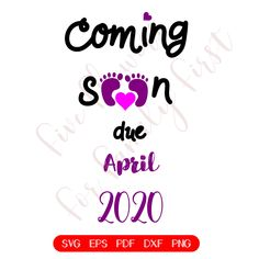 Pregnancy Announcement SVG, Baby Girl Coming Soon, April Pregnant SVG, Pregnancy Surprise, Bab Its A Girl Announcement, Baby Announcement Cards, Surprise Pregnancy, Surprise Baby, Baby Coming, Coming Soon, Status Wallpaper, Onesies, Baby Onesie
