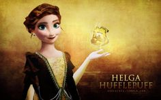 Anna from Frozen - as Helga Hufflepuff from Harry Potter