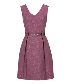 Belted Jacquard Dress in Light Plum . Sizes 0 to 18 . Buy it now - or find your Ricki's store - at www.rickis.com #rickis #summer2014