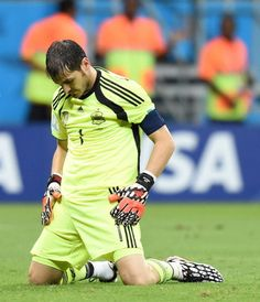 Casillas was sad. | The Spanish Team Was So Sad Poor Casillas. felt really bad for him...