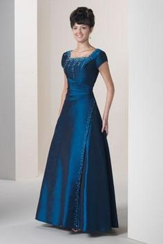 I would love something like this ... just need an occasion to wear this! :)  Simply Elegant - Modest Wedding Gowns, Modest Formal Gowns, Modest Prom Gowns,
