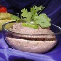 Cuban Black Bean Hummus. Had this last Saturday with avocados on top, it was AMAZING with pita bread!!!!