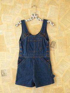 Vintage Denim Overall Shorts... i kinda want a pair