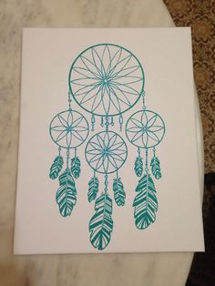 My dream catcher canvas painting! :)
