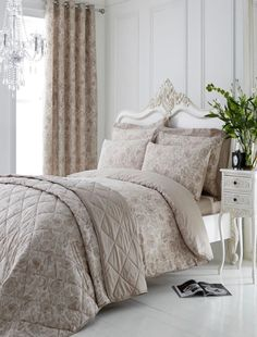 Decorate your master or guest bedroom with the luxurious Manchester White Quilt Set. The Manchester Quilt Sets are available in other fashionable shades - Cement,Fern, Ink and Aegean- and are quilted in a geo Comforter Sets, King Comforter, Pillow Shams, Decoration Inspiration, Quilted Bedspreads, Quilt Sets, Bedding Collections, Bed Spreads, Bedrooms