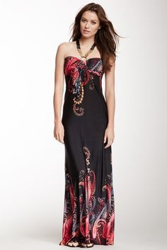 Amazing | Beaded Halter Maxi Dress