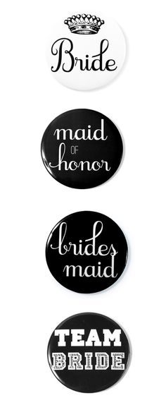 Bridal party buttons for the bachelorette party!