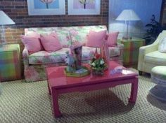 Painted River: Lilly Pulitzer Furniture.