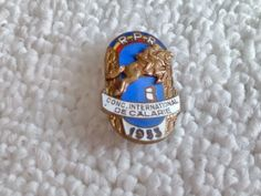 Vintage Romania/Romanian 1955 Equestrian Competition pin badge