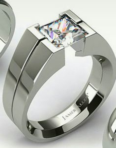 Design your own tension set engagement ring online. Browse our stunning selection of tension set rings, and choose the perfect diamond to match, all in HD. Engagement Ring For Him, Designer Engagement Rings, Diamond Wedding Rings, Diamond Rings, Men's Jewelry Rings, Man Jewelry, Jewelry Design, Gold Jewellery, Gents Ring