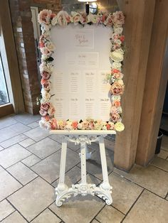 Blush, champagne, ivory and peach flowers our the perfect addition to your table plan, or welcome message.
