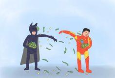 Batman vs Ironman. The ultimate battle