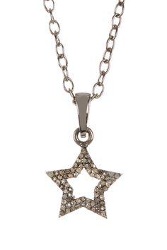Champagne Diamond Cutout Star Pendant Necklace - 0.49 ctw on @HauteLook