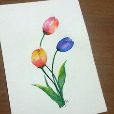 Instagram betdemka watercolor flowers  suluboya çiçek