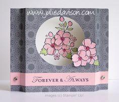 Stampin Up! Bordering On Romance Diorama card; video tutorial by Julie Davison, http://juliedavison.com
