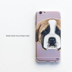 Clear TPU Case Cover - St.Bernard Puppy