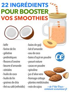 22 Super Ingrédients Pour BOOSTER Vos Smoothies En Énergie.