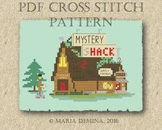 Mystery Shack Parody Gravity Falls PDF cross stitch pattern/
