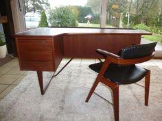 Boomerang Desk - Peter Lovig-Nielsen - Teak-Schreibtisch Denmark, Løvig, Danish | eBay