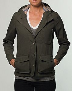 Marine Layer canvas jacket.  made in usa, made in California. Like the lining!