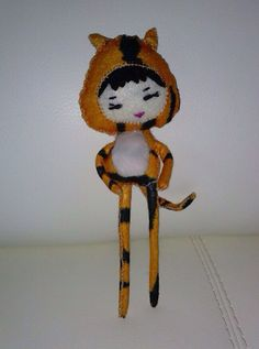 Ready To Ship Chinese Zodiac Tiger Girl by NotSoPerfectFriends, $35.00