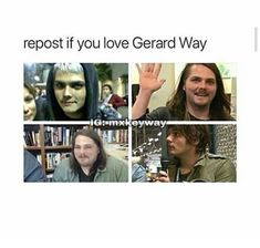 Honestly I feel like the MCR fandom has been really hard on Gerard over how he looks in 2017 but I think that doesn't take away from the fact that he is a beautiful amazingly talented human being Love ya Gee ❤️