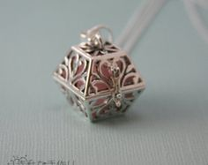 2-in-1 Square Hearts Diffuser Pendant for Essential Oils (Includes Free Sterling Silver Necklace!)