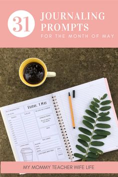 Every month, I create a new FREE printable planner for my My Mommy Teacher Wife Life community. The May planner is coffee and tea themed! Free Planner, Monthly Planner, Meal Planner, Printable Planner, Free Printables, Exercise Planner, Fitness Planner, 1 May Day, Kindness Notes
