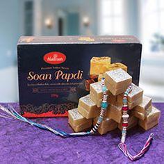 A #Sweet Bonding @ http://www.rakhibazaar.com/rakhi-with-sweets-3.html