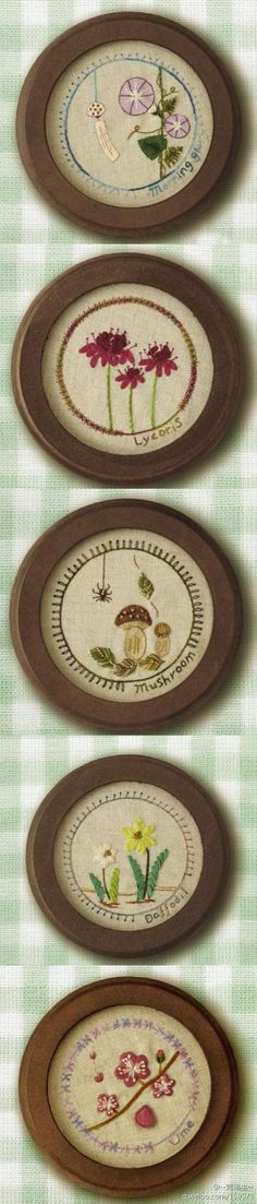 Sweet little flower embroideries.