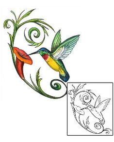 Show details for Hummingbird Tattoo MPF-00003