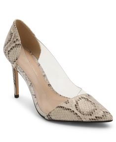 Bcbgeneration Pointy Toe Pumps With Clear Vinyl Panel. A stunningly chic pointy toe elevates these pumps by BCBGeneration that feature a beautiful snake print patent and vinyl upper. Women's Pumps, Pump Shoes, Women's Shoes, Vinyl Panels, Beautiful Snakes, Designer Pumps, Shoes Photo, Casual Loafers, Mens Sale