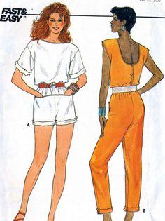 Vintage 80s Butterick 3183 CUT Misses Cropped by RomasMaison