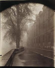 eugene atget, 'quai d'anjou'- One of several he made with this title. This one is an albumen print so possibly before 1900.