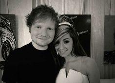 Christina Grimmie with Ed Sheeran