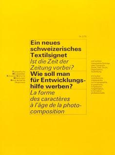 TM SGM RSI, Typografische Monatsblätter, issue 2, 1970. Cover designer: Felix Berman
