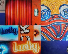 Lucky Ducky vintage sign photo collage